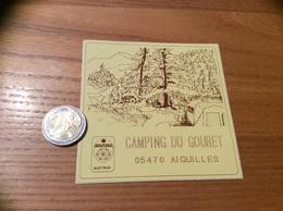 Autocollant, Sticker «CAMPING DU GOURET - QUEYRAS - AIGUILLES (05)» - Pegatinas