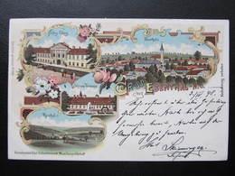 AK EBENTHAL B. Gänserndorf Litho Schwidernoch 1898 ///  D*41468 - Gänserndorf