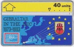 GIBRALTAR A-077 Hologram GNC - Map, Europe - 308A - Used - Gibraltar