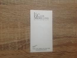 Ancienne Carte De Visite De Restaurant  Le Clos Morillon   Paris 15eme - Cartoncini Da Visita