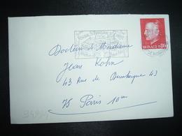 LETTRE TP RAINIER III 0,80 OBL.MEC.22-12 1976 MONTE-CARLO FESTIVAL INTERNATIONAL DU CIRQUE - Machine Stamps (ATM)