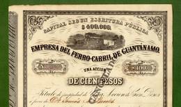 T-CU Ferro-Carril De Guantanamo 1877 CUBA - Chemin De Fer & Tramway