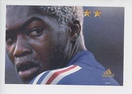 """Djibril Cissé """"On N'a Qu'une Seule Chose En Tête"""" Juin 2002 - Cp Vierge (Adidas) - Soccer"""