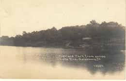 ETATS UNIS - ILLINOIS - LAKE RICE GALESBURG - HIGHLAND PARK FROM ACROSS - Estados Unidos