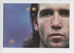"""Vincent Candela """"On N'a Qu'une Seule Chose En Tête"""" Juin 2002 - Cp Vierge (Adidas) - Soccer"""