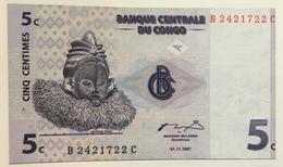 BILLET CONGO 5 CENTIMES - Congo