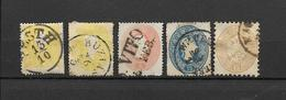 AUTRICHE -5 TRES VIEUX TIMBRES OBLITERES - VOIR LES N°    - DEPUIS 1858-59 - FAIT SCAN DU VERSO - 1850-1918 Empire