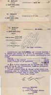 VP16.538 - 3 Lettres De Me C. GOUY Notaire à SAINT - GENIS - LAVAL ( Rhône ) - Collections
