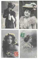 Fantaisies Lot De 16 CPA Femmes - Cartes Postales