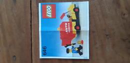 Istruzioni Lego 646 Veicolo Servizio 1979 Originale Epoca - Plans