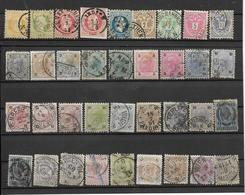 AUTRICHE -36 TRES VIEUX TIMBRES OBLITERES -PAS EMINCES - VOIR LES N°  - DEPUIS 1867-80- - 1850-1918 Empire