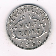 HALF RUPEE 1969 (mintage 60000 Ex) SEYCHELLEN /63/ - Seychellen