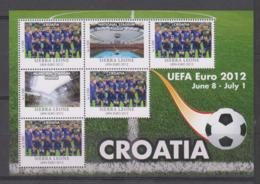 Sierra Leone  UEFA Euro 2012  Michel # 5688 **  Kleinbogen  Kroatien / Croatia - Fußball-Europameisterschaft (UEFA)