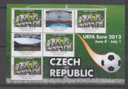 Sierra Leone  UEFA Euro 2012  Michel # 5680 **  Kleinbogen Tschechien / Czech Republic - Fußball-Europameisterschaft (UEFA)