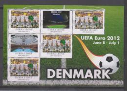Sierra Leone  UEFA Euro 2012  Michel # 5681 **  Kleinbogen Dänemark / Denmark - Fußball-Europameisterschaft (UEFA)