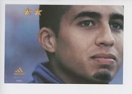 """David Trezeguet """"On N'a Qu'une Seule Chose En Tête"""" Juin 2002 - Cp Vierge (Adidas) - Soccer"""