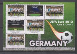 Sierra Leone  UEFA Euro 2012  Michel # 5682 **  Kleinbogen Deutschland/Germany - Fußball-Europameisterschaft (UEFA)