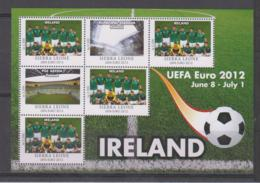 Sierra Leone  UEFA Euro 2012  Michel # 5686 **  Kleinbogen Irland/Ireland - Fußball-Europameisterschaft (UEFA)