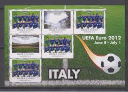 Sierra Leone  UEFA Euro 2012  Michel # 5685 **  Kleinbogen Italien/Italy - Fußball-Europameisterschaft (UEFA)