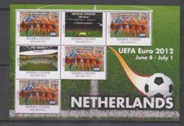 Sierra Leone  UEFA Euro 2012  Michel # 5678 **  Kleinbogen Niederlanden/Netherlands - Fußball-Europameisterschaft (UEFA)