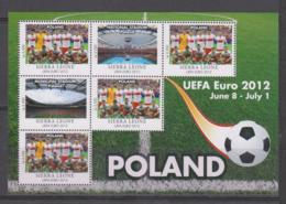 Sierra Leone  UEFA Euro 2012  Michel # 5675 **  Kleinbogen Polen/Poland - Fußball-Europameisterschaft (UEFA)