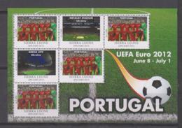 Sierra Leone  UEFA Euro 2012  Michel # 5683 **  Kleinbogen Portugal - Fußball-Europameisterschaft (UEFA)