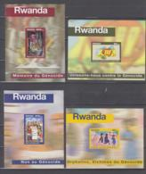 Ruanda / Rwanda Michel #  Blöcke 1469 - 72 **  Geschnitten Non On Génocide/Gedenken Des Völkermordes - Ruanda