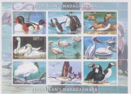 Madagaskar / Madagasikara   1999 Kleinbogen ** - Vögel