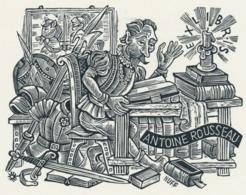 Ex Libris Antoine Rousseau (Don Quichote) - Hermann Huffert (1904-1995) - Ex-libris