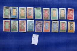 Timbre Togo  N°101 à 118 * - Togo (1914-1960)