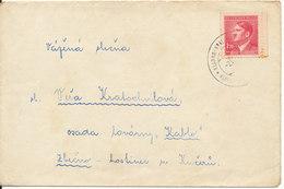 Bohemia & Moravia Böhmen & Mähren Cover Sent To Czechoslovakia Single Franked - Bohemia & Moravia