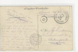 CP Sm Obl.Hove ( Antwerpen) 28.IX.14-arr.Antwerpen 1-29.IX.TB - WW I