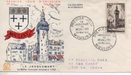 FDC  JACQUEMART  DE MOULINS   N° YVERT ET TELLIER  1025 - 1950-1959