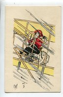 Plume Illustrateur Femme Avion Cupidon - Illustrateurs & Photographes