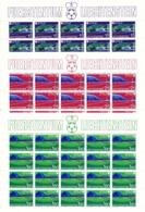Zumstein 738-740 / Michel 799-801 Bogen-Serie Einwandfrei Postfrisch/** - Blocks & Kleinbögen