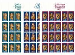 Zumstein 752-754 / Michel 813-815 Bogen-Serie Einwandfrei Postfrisch/** - Blocks & Kleinbögen