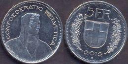 Switzerland Swiss 5 Franc 2012 VF - Suisse