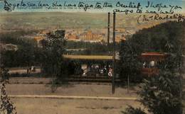 Namur - Citadelle - Panorama De La Ville Vu Du Chalet (animée Colorisée Tram Tramway 1930) - Namen