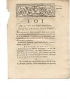 DECRET -LOI RELATIVE AUX VISITES DOMICILIAIRES -ANNEE 1792 - Décrets & Lois