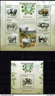MDA-BK21-546 MINT POSTFRIS ¤ MOCAMBIQUE 2010 KOMPL. SET ¤ RINOCERONTES - MAMMALS - WILD ANIMALS OF AFRICA - Gibier