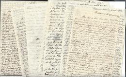 BESANCON - MONCEY ( Doubs ) 1842 Fin De Vie Décès Funérailles De La Maréchale De Moncey ,née Charlotte Remillet Lettres - Manuscritos