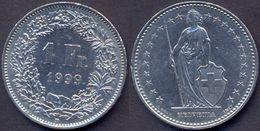 Switzerland Swiss 1 Franc 1999 VF - Suisse