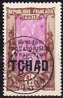 """Tchad 1933 Valeur Clé De La Série Courante Mi 56, Yv 54A Oblitéré """"Fort-Lamy"""" O - Ciad (1922-1936)"""