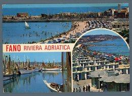 °°° Cartolina - Fano Riviera Adriatica Vedute Viaggiata °°° - Fano