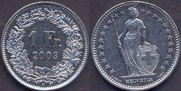 Switzerland Swiss 1 Franc 2003 VF+ - Suisse