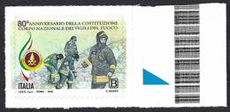 Italia, Italy, Italien, Italie 2019; Logo Del Corpo Nazionale Dei Vigili Del Fuoco, Firefighters, Les Pompiers,Feuerwehr - Francobolli