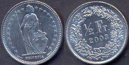 Switzerland Swiss 1/2 Franc (50 Rappen) 2003 AXF - Suisse