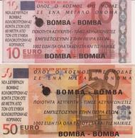 GRIECHENLAND ~ 2002  10€+50€ ZWEI/deux Reklame/Pub/Propagandabanknoten - Fictifs & Spécimens
