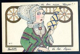 Cpa Illustrateur Paulette Au Bon Vieux Temps Le Cap Sizun  DEC19-23 - Beuzec-Cap-Sizun