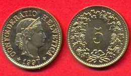 Switzerland Swiss 5 Rappen 1997 XF+ - Suisse